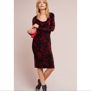 Anthropologie Dierdre Velvet Column dress